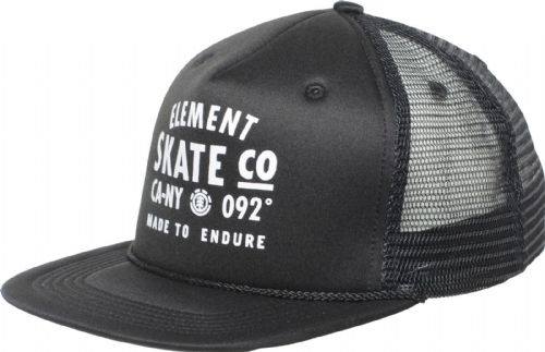 ELEMENT MENS CAP.TRACT BASEBALL BLACK CURVED PEAK MESH TRUCKER HAT 7W CTA6 3732